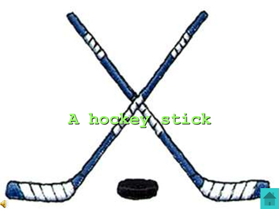 A hockey stick