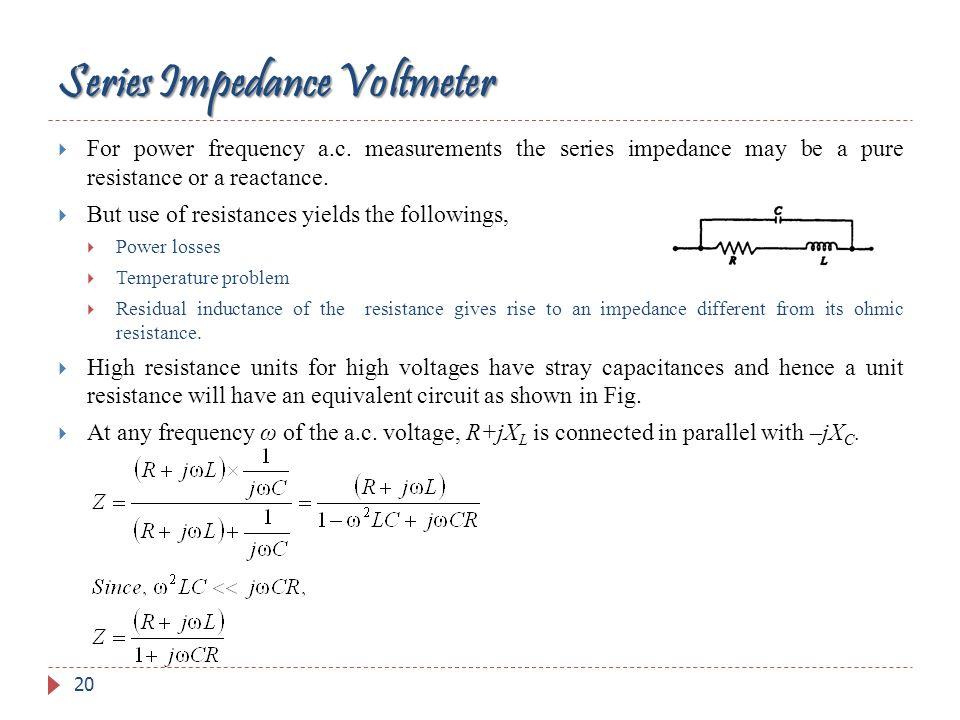 Series Impedance Voltmeter