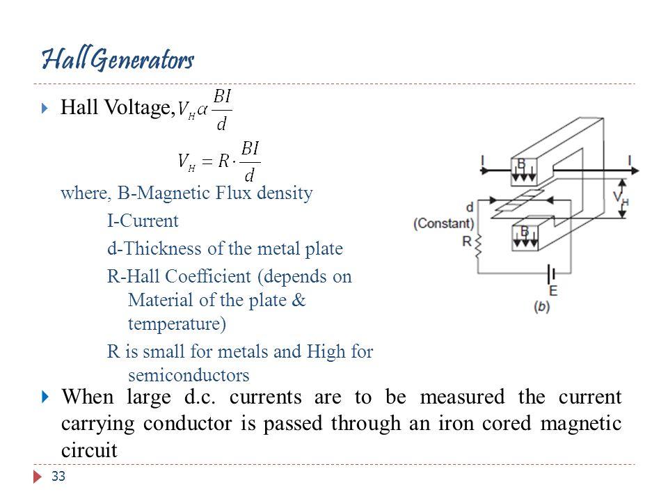 Hall Generators Hall Voltage,