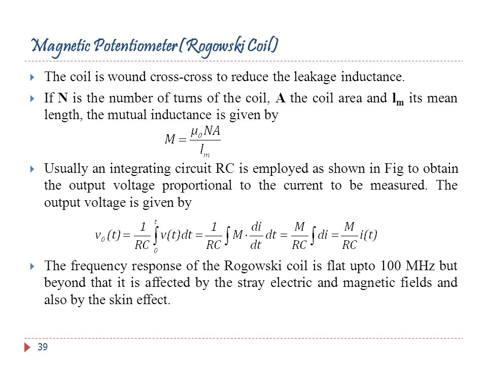 Magnetic Potentiometer(Rogowski Coil)