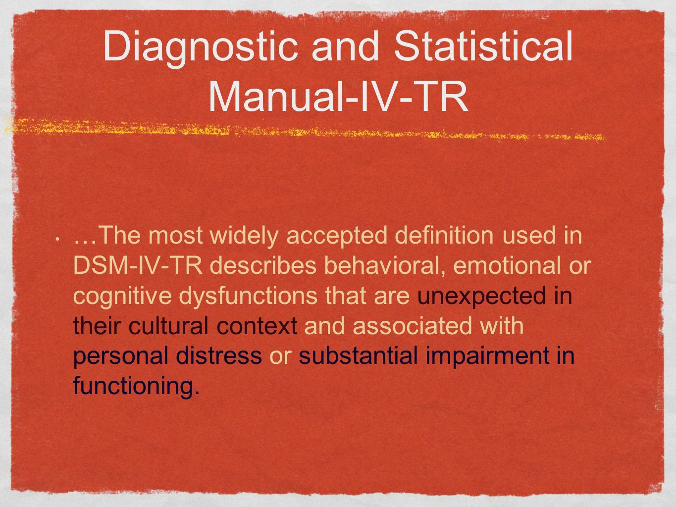 Diagnostic and Statistical Manual-IV-TR