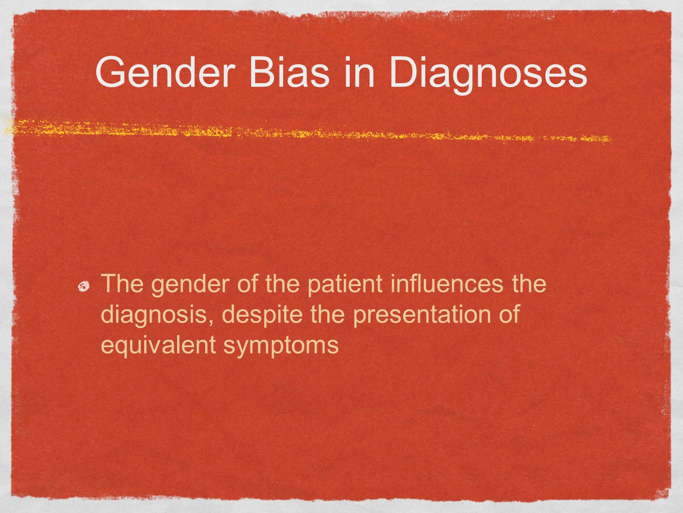 Gender Bias in Diagnoses