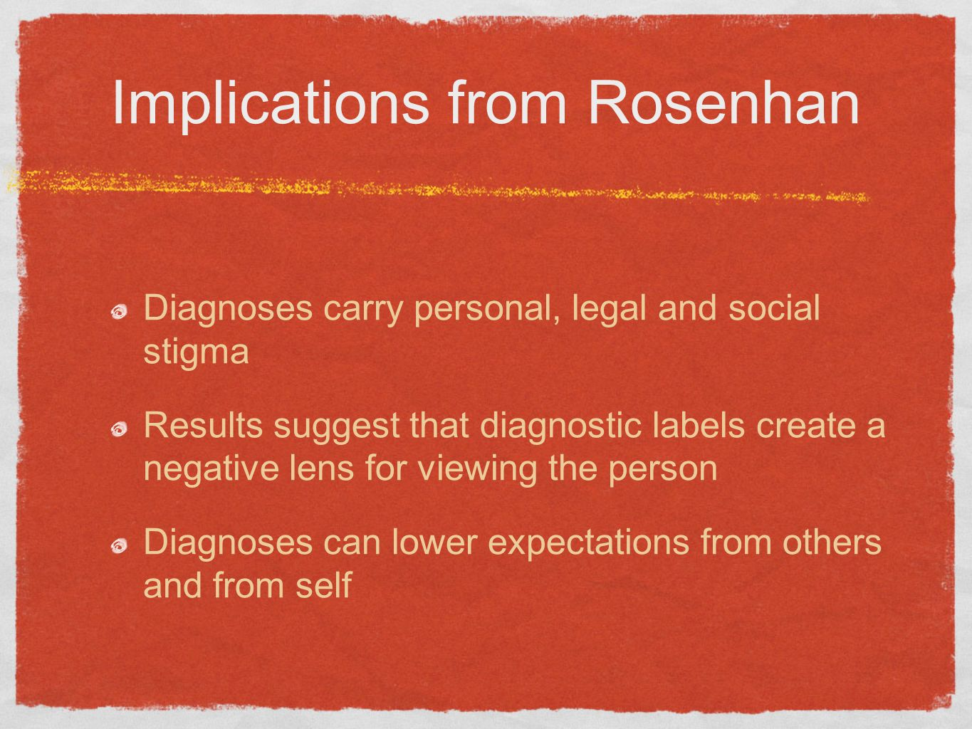 Implications from Rosenhan