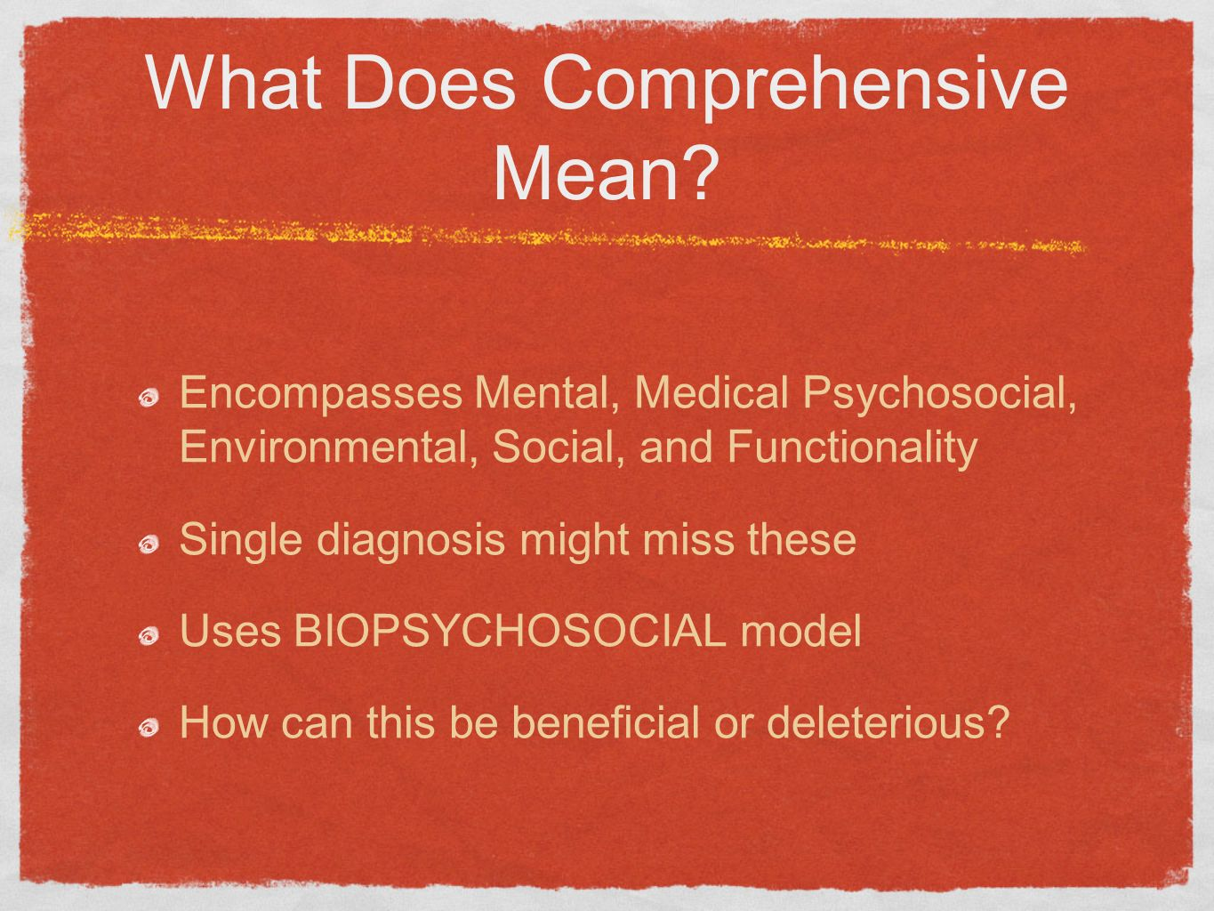 What Does Comprehensive Mean
