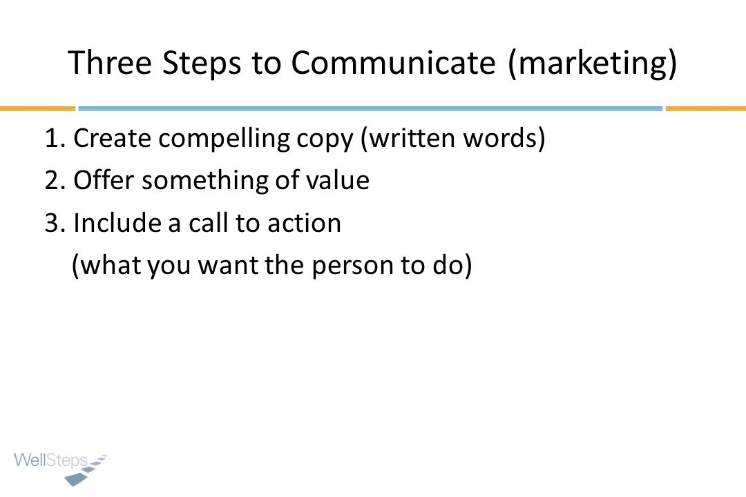Three Steps to Communicate (marketing)