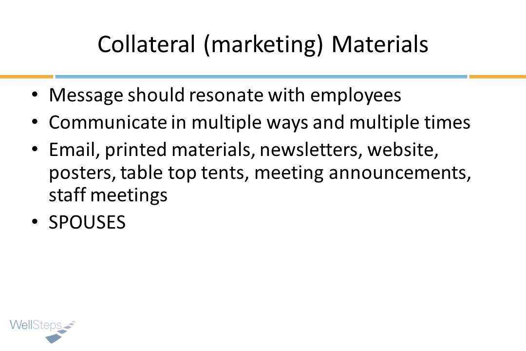 Collateral (marketing) Materials
