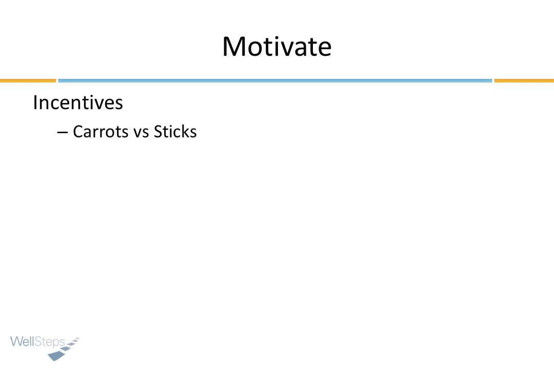 Motivate Incentives Carrots vs Sticks