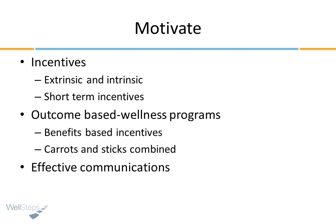 Motivate Incentives Outcome based-wellness programs