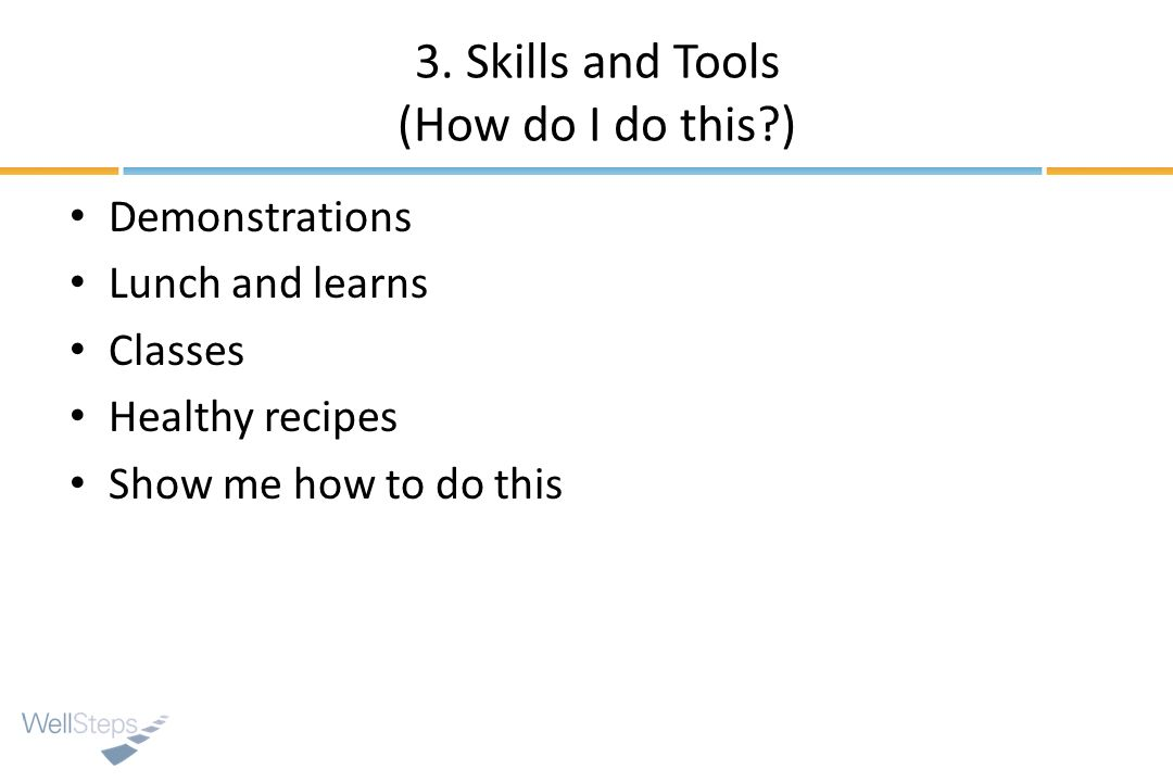 3. Skills and Tools (How do I do this )
