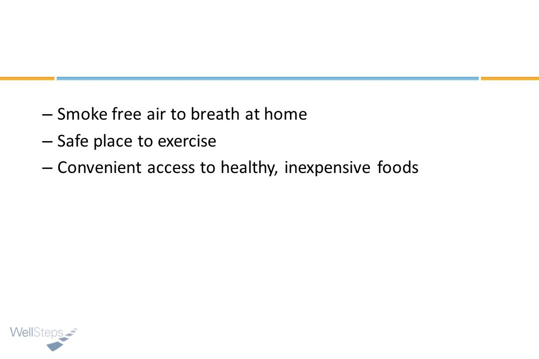 Smoke free air to breath at home