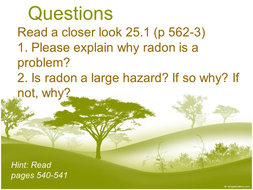 Questions Read a closer look 25. 1 (p 562-3) 1