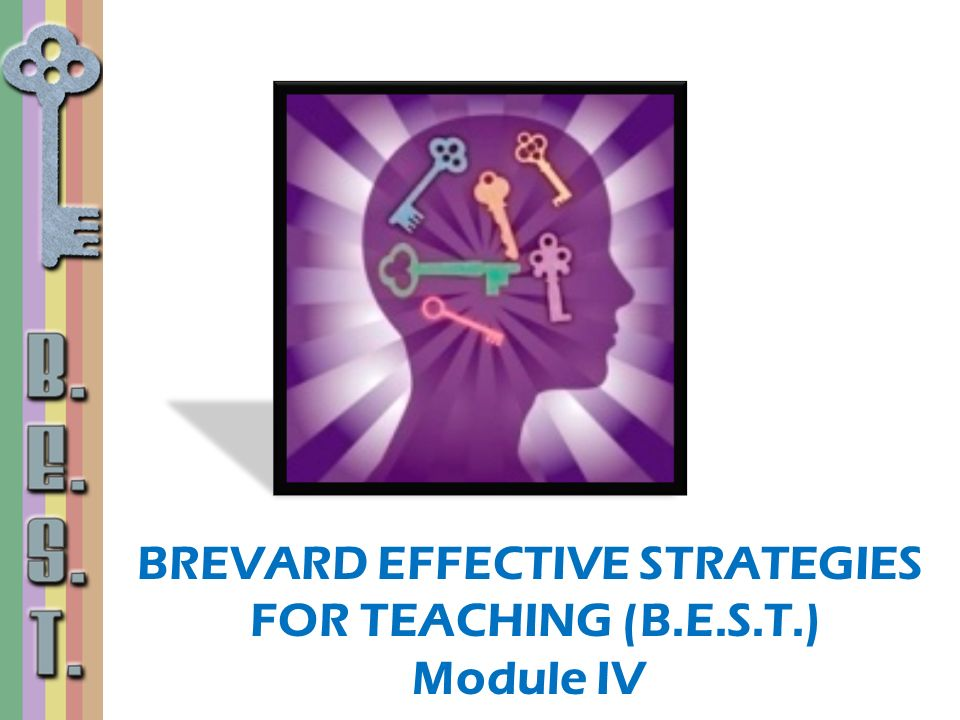 BREVARD EFFECTIVE STRATEGIES FOR TEACHING (B.E.S.T.) Module IV