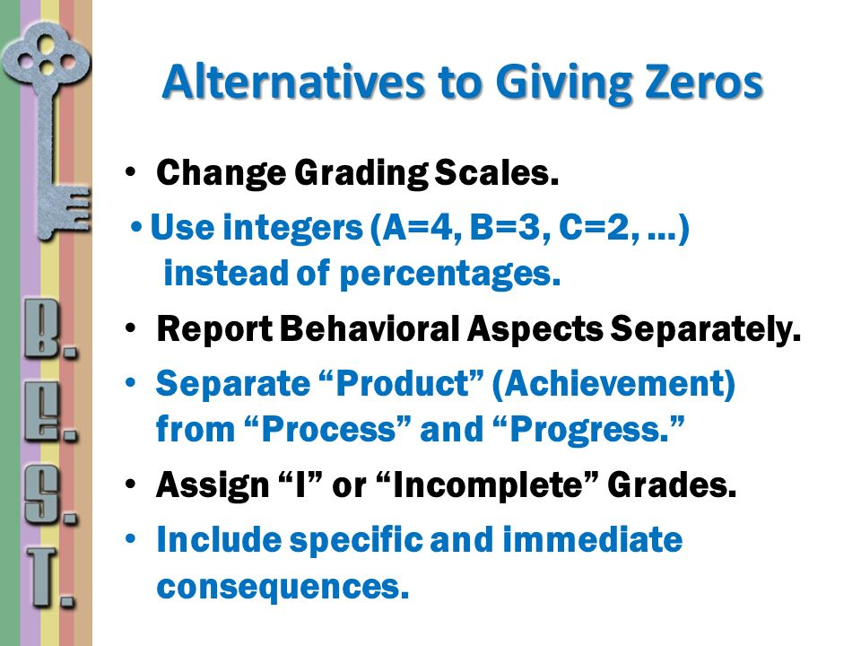 Alternatives to Giving Zeros