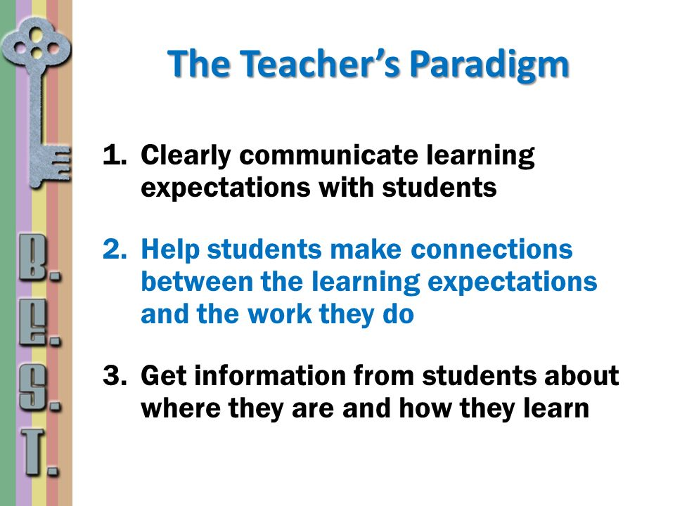 The Teacher's Paradigm