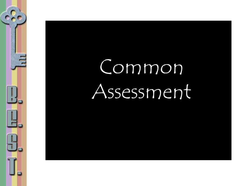 Common Assessment. Share that the Language Arts dept. at DeLaura is also using common summative assessments.