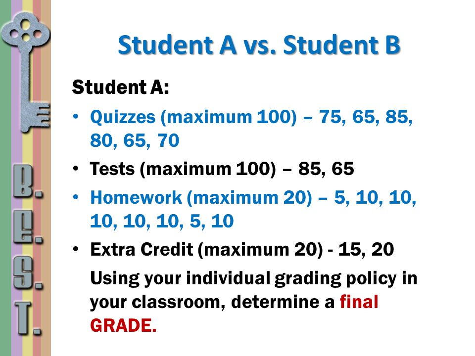 Student A vs. Student B Student A: