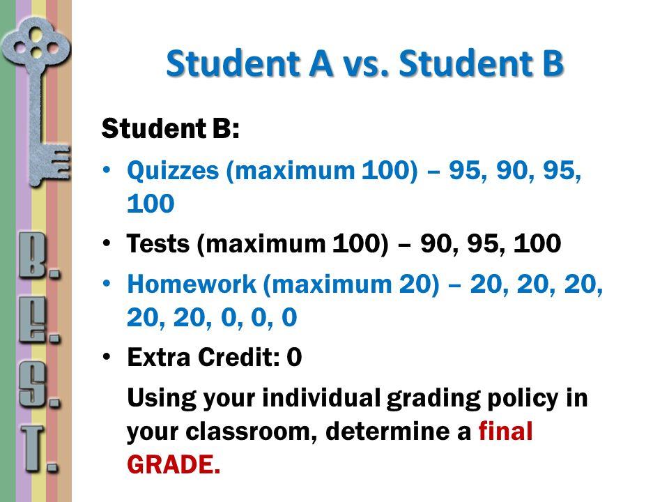 Student A vs. Student B Student B: