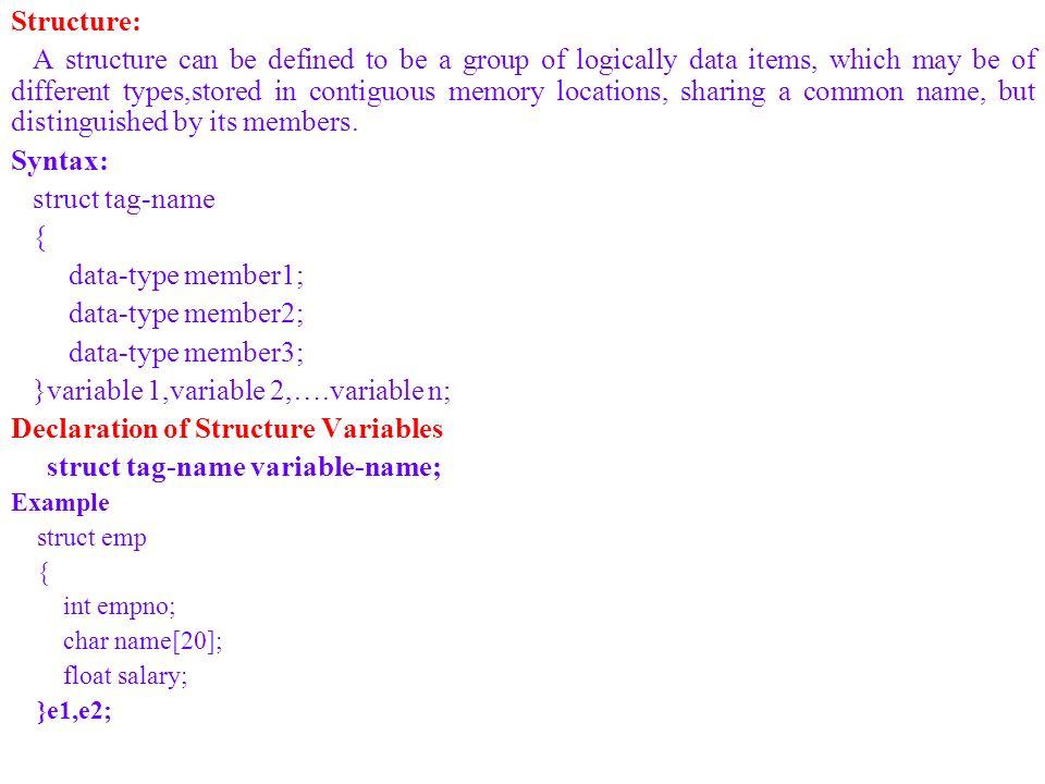}variable 1,variable 2,….variable n;