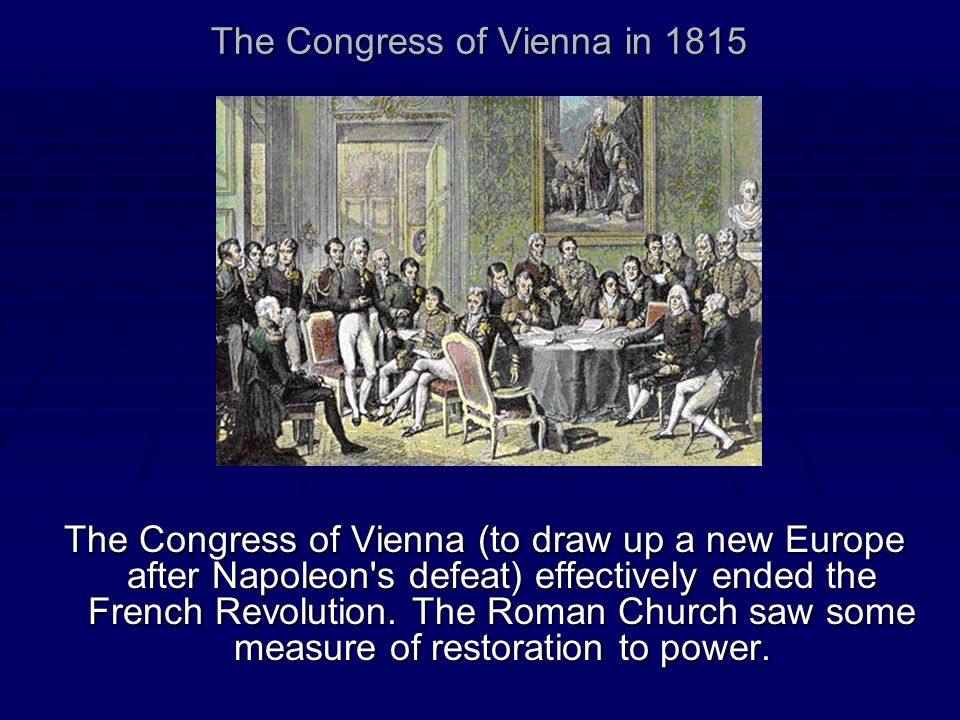 The Congress of Vienna in 1815