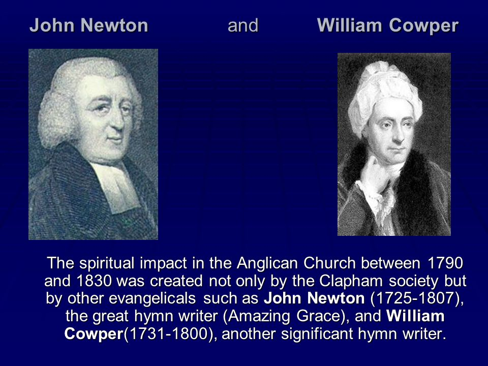 John Newton and William Cowper