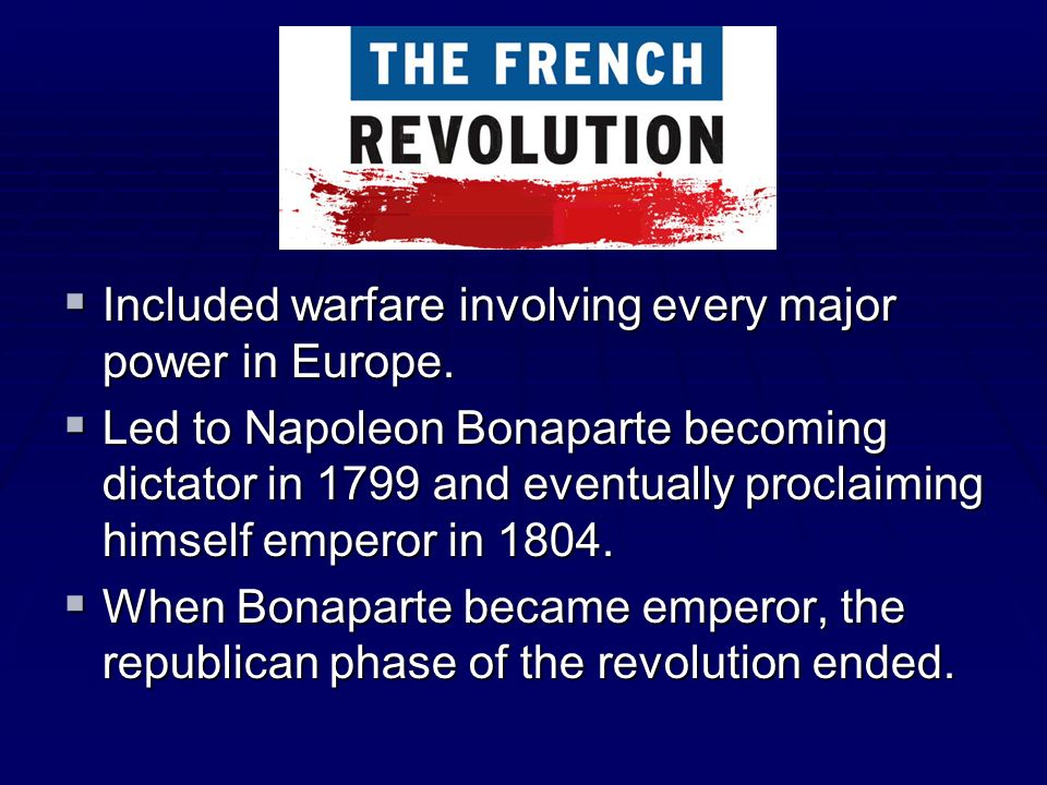 Included warfare involving every major power in Europe.