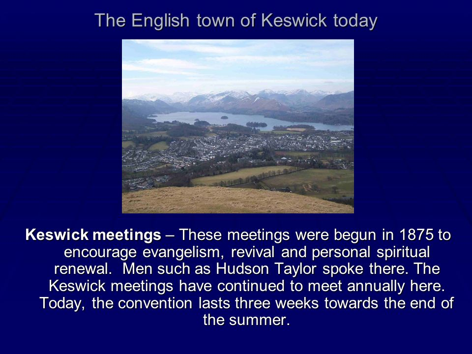 The English town of Keswick today