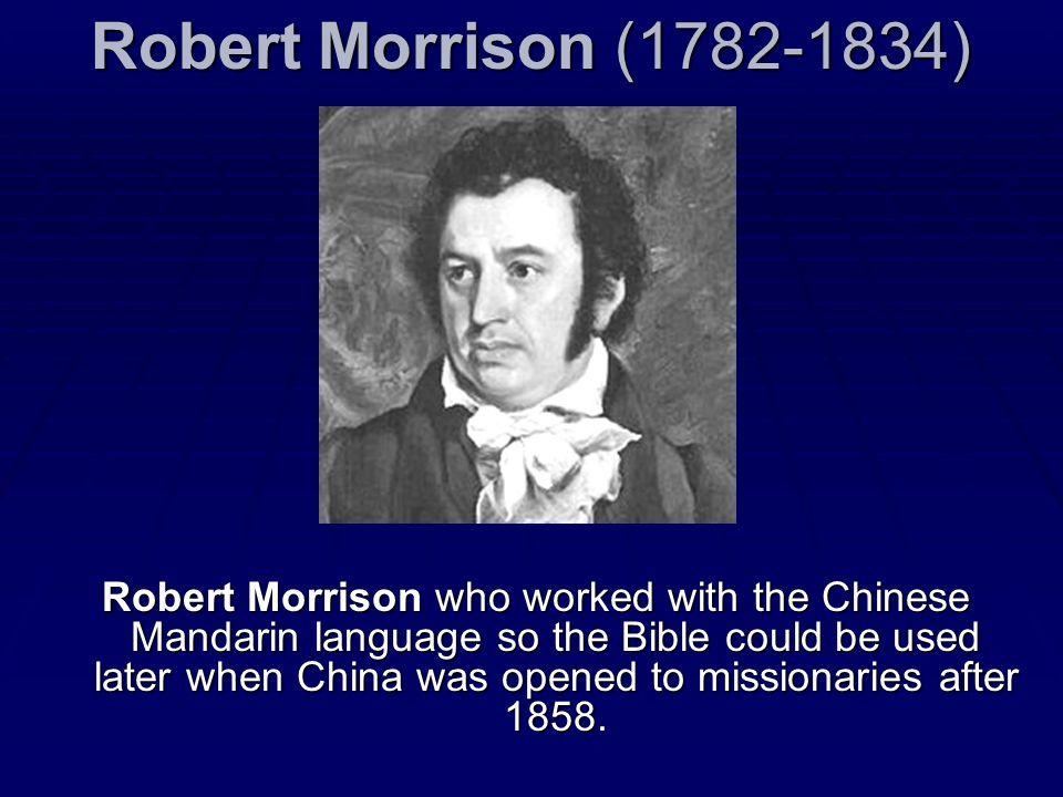 Robert Morrison (1782-1834)