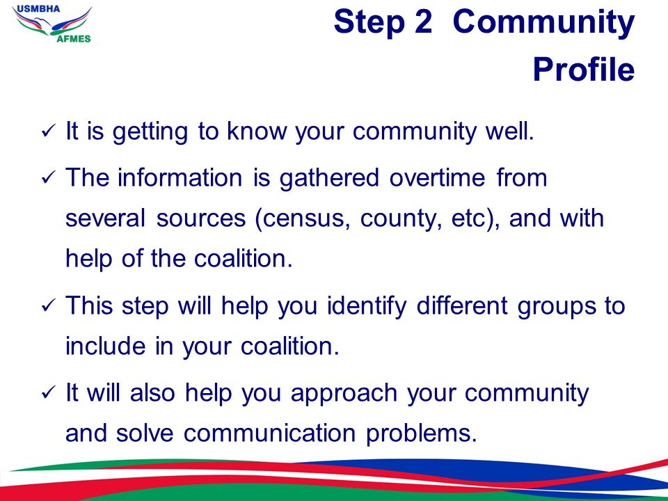 Step 2 Community Profile
