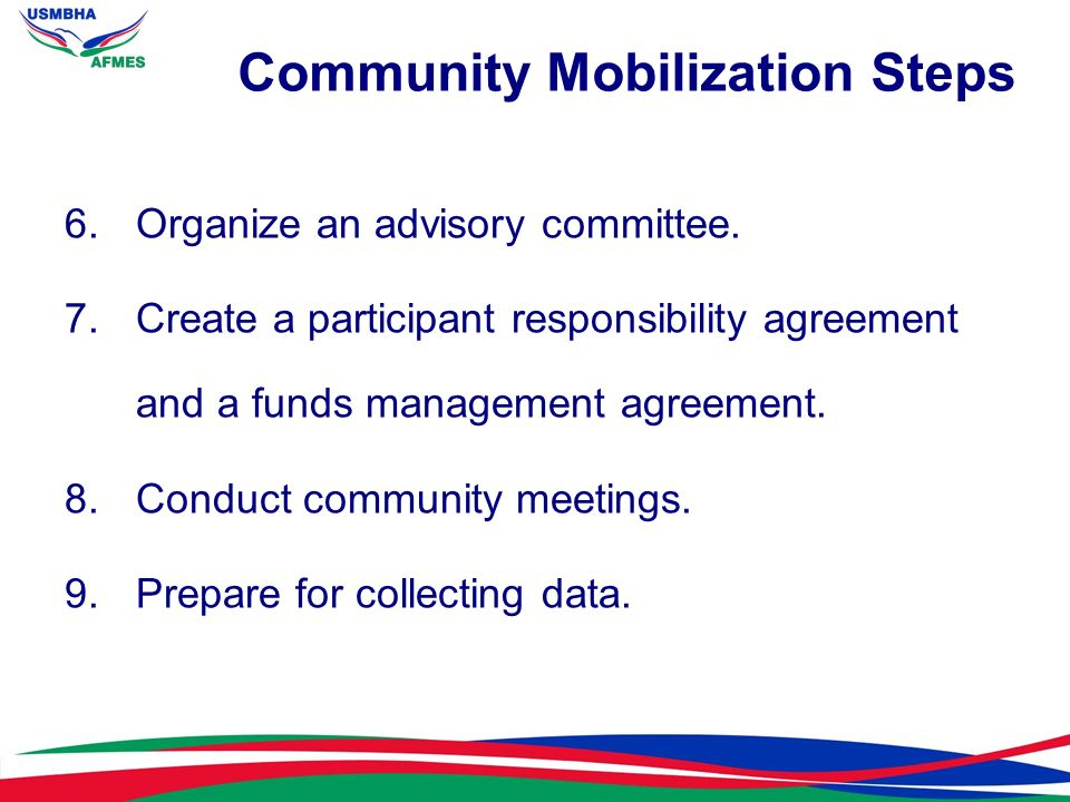 Community Mobilization Steps