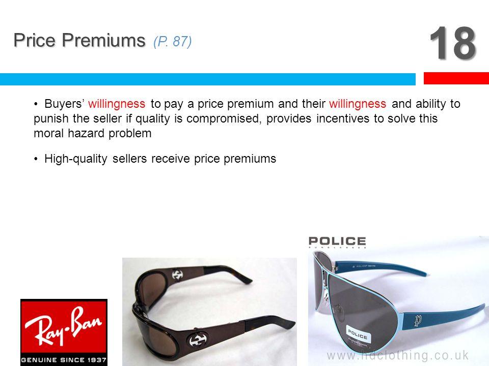 18 Price Premiums (P. 87)