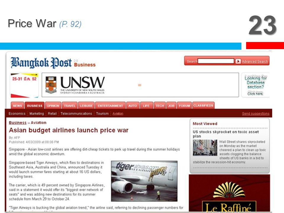 23 Price War (P. 92)