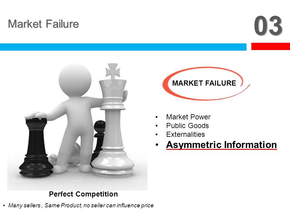 03 Market Failure Asymmetric Information MARKET FAILURE Market Power