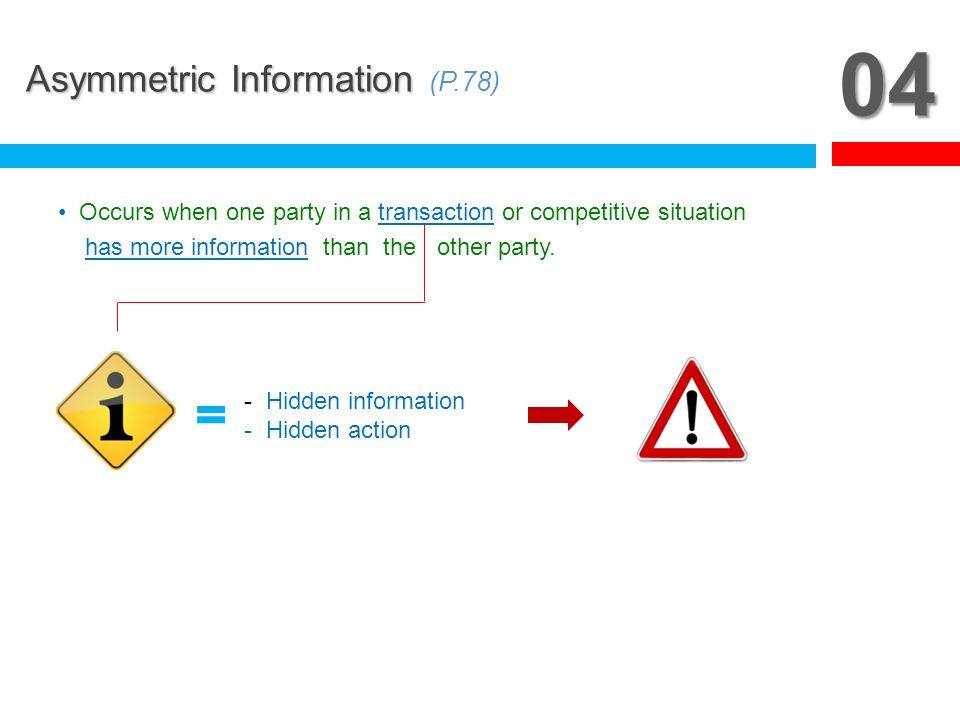 04 Asymmetric Information (P.78)