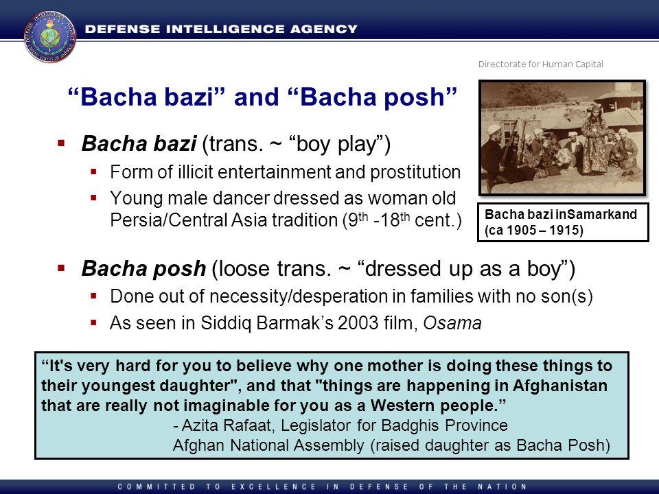 Bacha bazi and Bacha posh