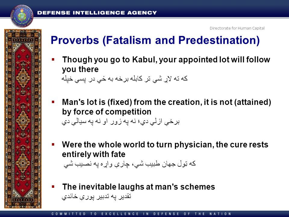 Proverbs (Fatalism and Predestination)