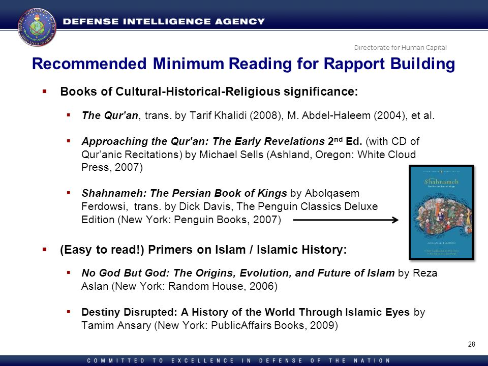 Recommended Minimum Reading for Rapport Building