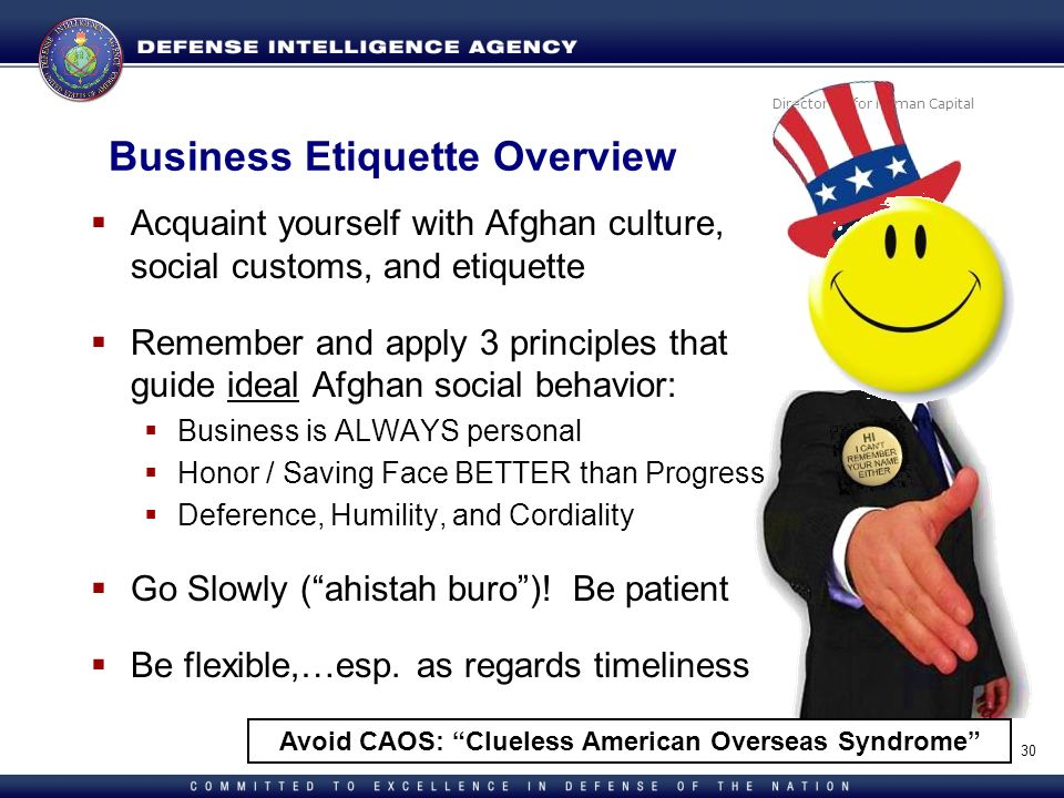 Business Etiquette Overview