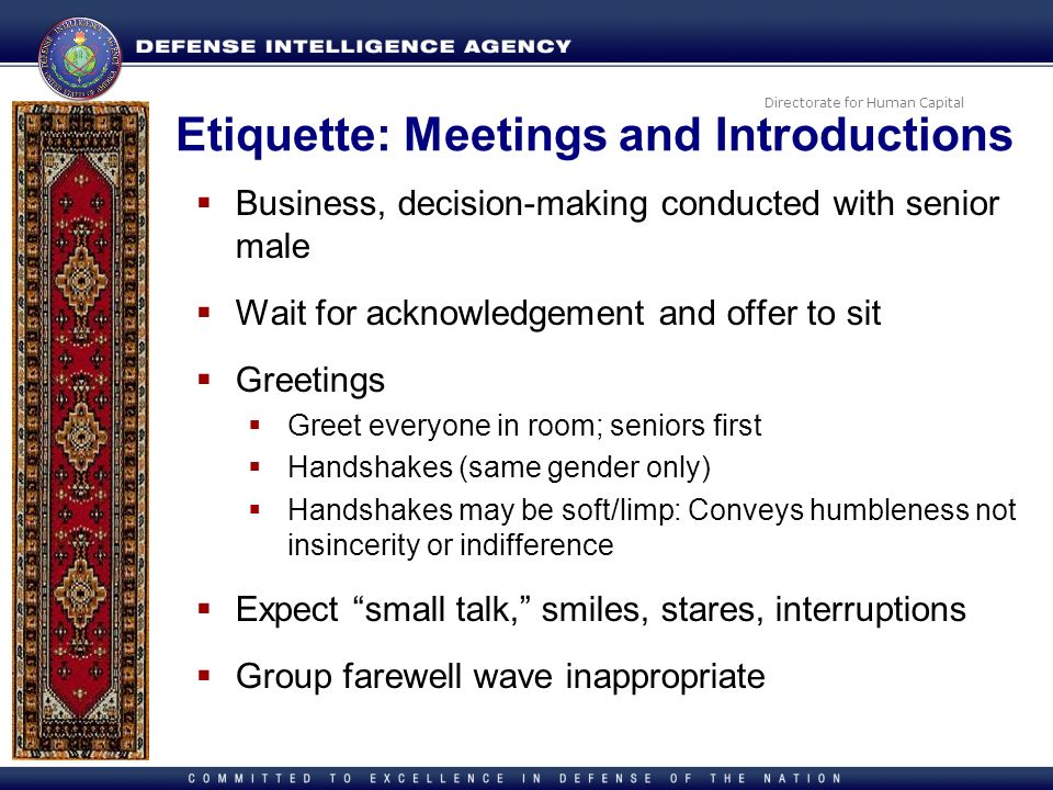 Etiquette: Meetings and Introductions