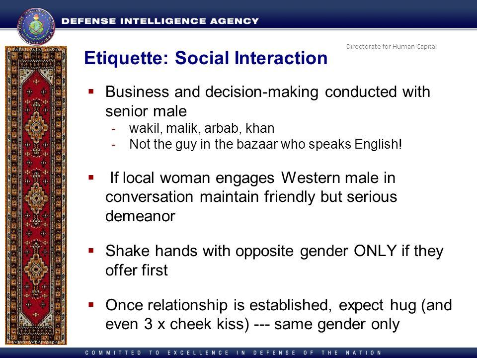 Etiquette: Social Interaction