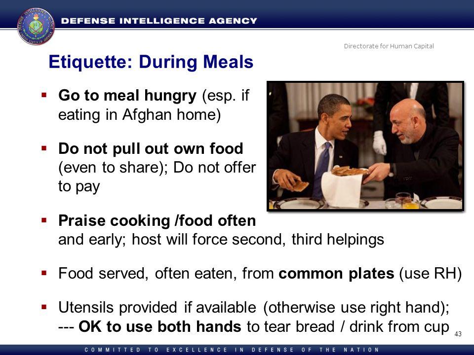 Etiquette: During Meals