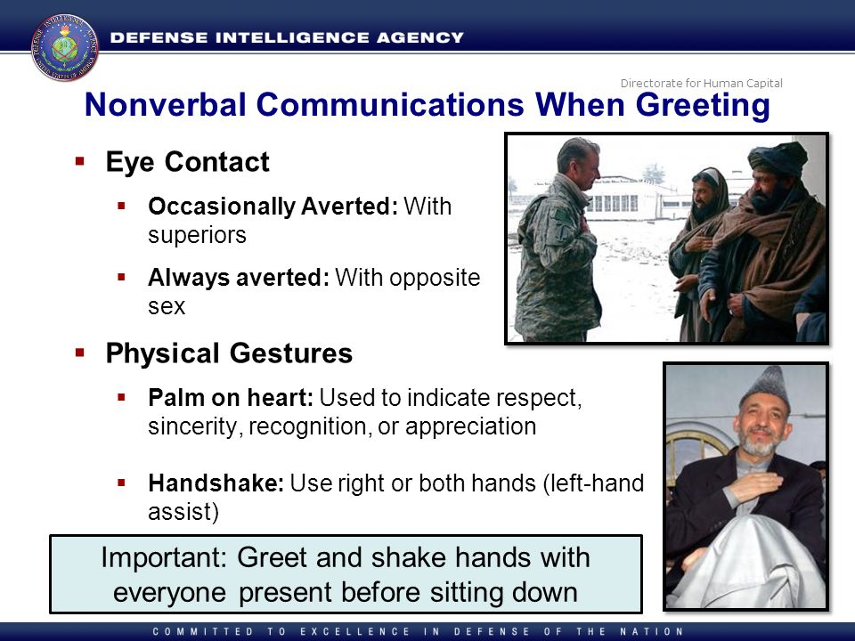 Nonverbal Communications When Greeting