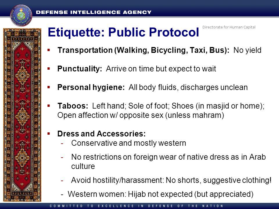 Etiquette: Public Protocol