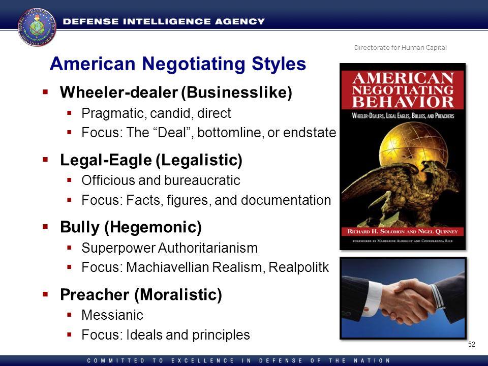 American Negotiating Styles