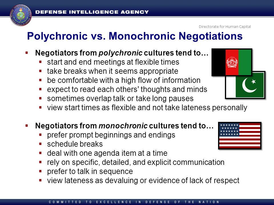 Polychronic vs. Monochronic Negotiations
