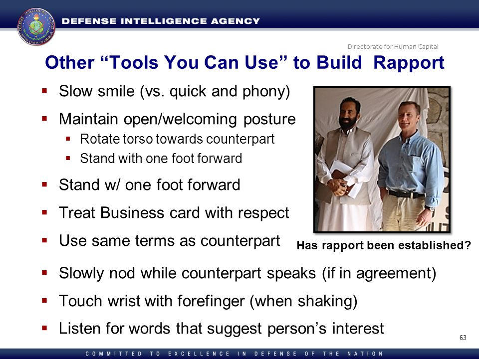 Other Tools You Can Use to Build Rapport