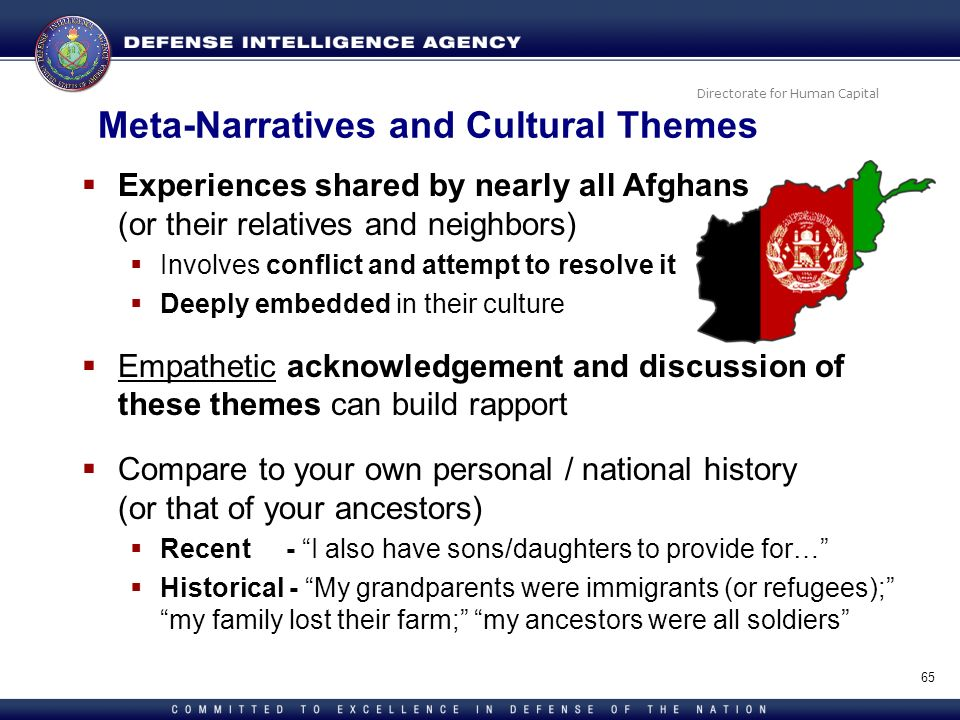 Meta-Narratives and Cultural Themes