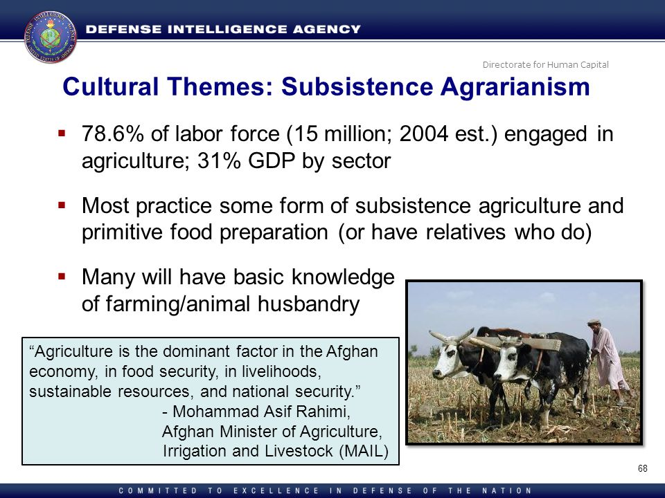 Cultural Themes: Subsistence Agrarianism