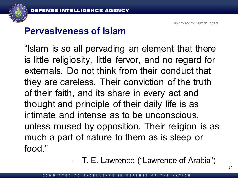 Pervasiveness of Islam