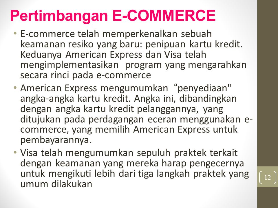 Pertimbangan E-COMMERCE