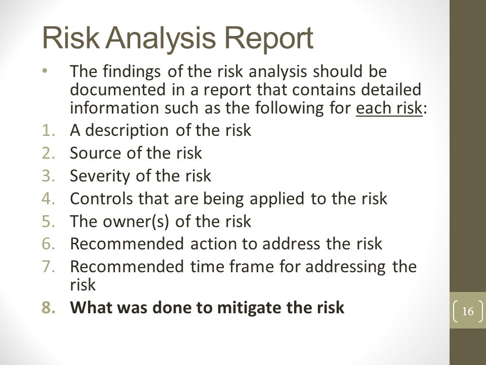 Risk Analysis Report